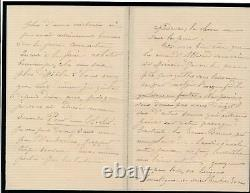 Poésie Mélanie Bourotte 2 lettres autographes signées Blanchet Louis de Courmont