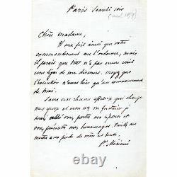 Prosper MÉRIMÉE LETTRE AUTOGRAPHE SIGNÉE janvier 1899