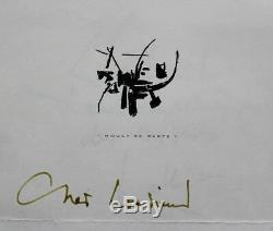 RARE DOCUMENT Georges MATHIEU Pensée sur l'art + Lettre autographe signée 2 pp
