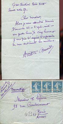 RARE LETTRE AUTOGRAPHE SIGNEE par Aristide BRUANT en 1921