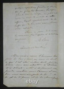 RENAN Ernest LETTRE AUTOGRAPHE SIGNÉE À François-Marie LUZEL, PARIS