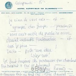 ROMY SCHNEIDER Lettre autographe signée à son agent artistique