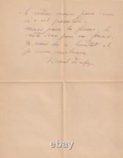 Raoul DUFY Lettre autographe signée 1945