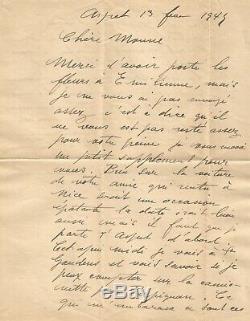 Raoul DUFY Lettre autographe signée Deux pages manuscrites 1945