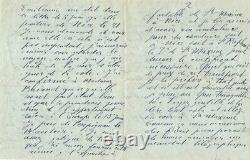 Raoul DUFY Lettre autographe signée à propos de sa peinture. 4 pages
