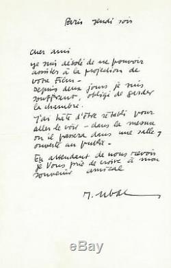Raoul UBAC / Lettre autographe signée