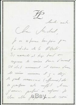 Rare Eo Karl Lagerfeld + La Brochure + Lettre Autographe + Dessin Non Signé