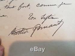 Rare Lettre Autographe Signee Aristide Bruant