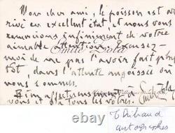 Rare carte de visite lettre autographe signée Émile Zola signature Littérature