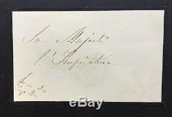 Reine des Pays-Bas Lettre autographe signée à l'Impératrice Eugénie -ALS- 1870