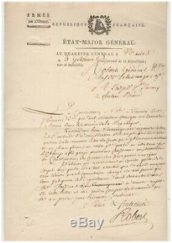 Révolution / Armée De L'ouest (1794) / Lettre Signée Du Général Robert / Vendée