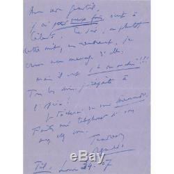 Reynaldo HAHN Lettre autographe inédite signée inédite à Marcel PROUST