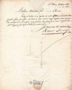 Robert Surcouf / Lettre Signée / Saint-malo (1819) / Commande Pour Son Navire