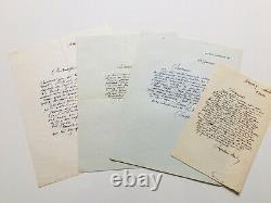Roger CHAPELAIN-MIDY, Bel ensemble de 4 lettres autographes signées, Jules Verne