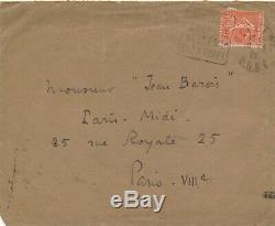 Roger MARTIN DU GARD lettre autographe signée sur pseudonyme Jean Barois