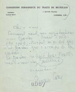 Romain GARY Lettre autographe signée La publication des Racines du ciel 1955