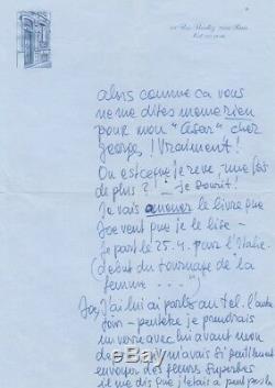 Romy SCHNEIDER Lettre autographe signée après la cérémonie des Césars 1976