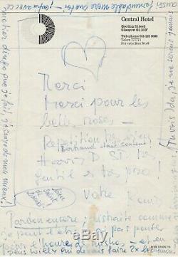 Romy SCHNEIDER Lettre autographe signée avec un coeur