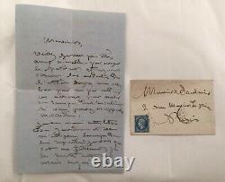 Rosa BONHEUR (1822-1899)peintre animalier. Lettre autographe signée Rosa Bonheur