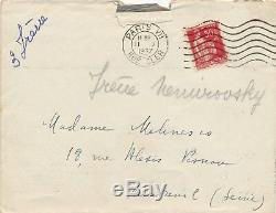 Russe Irène Némirovsky lettre autographe signée 1937 Mouches d'Automne