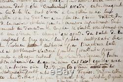 SADE Rare Lettre autographe Prison Vincennes 1781
