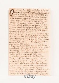 SADE UNIQUE Lettre autographe inédite à sa femme Vincennes Prison 1783