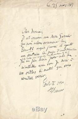 SAINTE-BEUVE / Lettre autographe signée / La publication de ses oeuvres