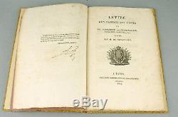 SENANCOUR Lettre d'un habitant des Vosges 1814 EO Signé SIGNATURE AUTOGRAPHE