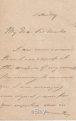 SIDNEY SMITH Lettre autographe signée sur NAPOLEON BONAPARTE