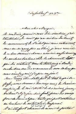STEPHANIE DE BEAUHARNAIS Lettre autographe signée (NAPOLEON IER)