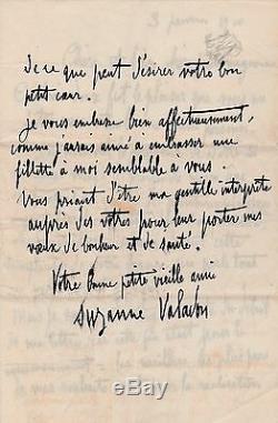 SUZANNE VALADON Lettre autographe signée