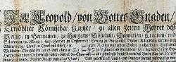 Saint Empire Romain- Empereur Léopold 1er Habsbourg- Lettre signée Signed letter