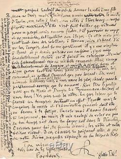 Saint Pol Roux / Lettre Autographe Signée (1929) / Manoir De Coecilian