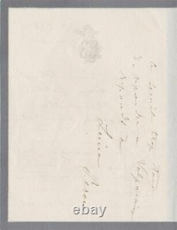 Sarah BERNHARDT Lettre autographe signée
