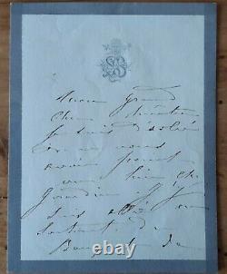 Sarah BERNHARDT Victor Hugo Lettre autographe signée datée 1880