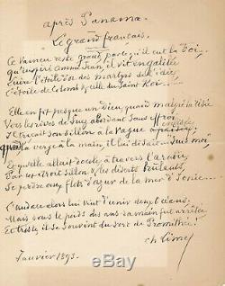 Scandale Panama Charles Limet lettre autographe signée avocat justice poème
