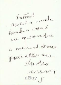 Serge GAINSBOURG / Lettre autographe signée à Fulbert / 1988