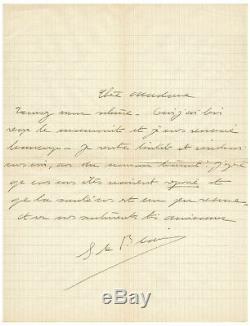 Simone de BEAUVOIR / Lettre autographe signée / La force de l'âge