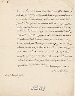 Stanislas LESZCZYNSKI lettre autographe signée sur la naissance du dauphin