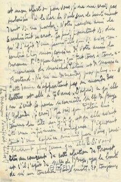 Sylvain BONMARIAGE lettre autographe signée à M. Rostand sur Proust amoureux