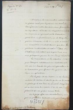 TALLEYRAND (Prince de) Lettre signée Occupation étrangère Septembre 1815