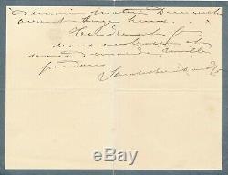 Théâtre Sarah BERNHARDT lettre autographe signée fatique travail