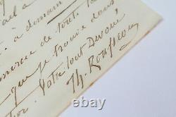 Theodore ROUSSEAU Lettre autographe Vous envoyer aujourd'hui mon tableau 1850