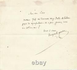 Théophile GAUTIER lettre autographe signée à madame Grisi