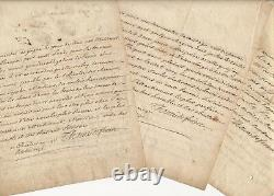Thomé de Méry THOMÉ de FERRIERES correspondance lettres autographes signées