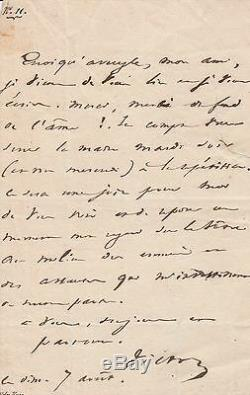 VICTOR HUGO Lettre autographe signée sur Marion Delorme