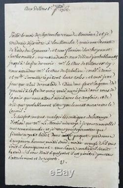 VOLTAIRE Belle lettre signée Letter signed Septembre 1762