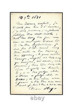 Victor HUGO / Lettre autographe signée / Horace / Diderot / Académie Française