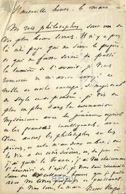 Victor HUGO Lettre autographe signée Le spiritisme, la France et l'exil