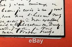 Victor HUGO Lettre autographe signée à Aglaüs Bouvenne